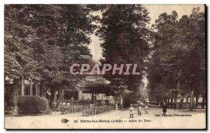 Old Postcard Neris les Bains Allier Park Allee