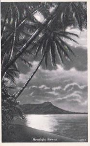 Hawaii Honolulu Moonlight Scene Curteich