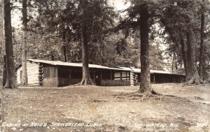 LP56  Springstead Wisconsin RPPC Postcard  Reid's Lodge Cabins