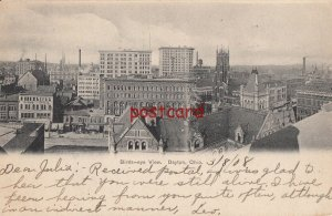 1908 DAYTON OH Birds-eye View, No. A 193 Excelsior, mailed to Miss Julia Wolf