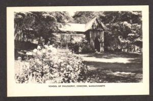 MA View School of Philosophy CONCORD MASS Postcard PC