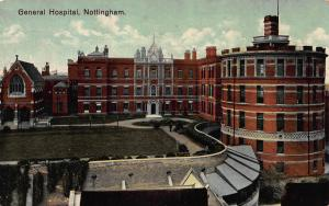 General Hospital, Nottingham, England, Early Postcard, Unused