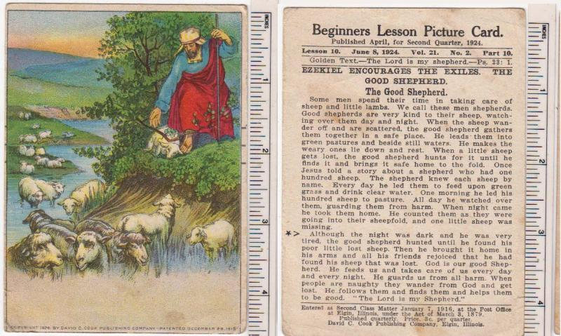 Beginners Lesson Picture Card, The Good Shepherd