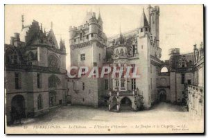 Old Postcard Pierrefonds Chateau Honor Staircase of the Dungeon and the Chapel