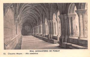 Spain Old Vintage Antique Post Card Real Monasterio de Poblet Unused