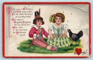 Postcard Valentine Taffy Was A Welshman Tuck Little Nursery Rhyme Lovers Q19