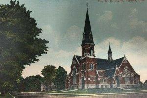 Early Fostoria Ohio First M. E. Methodist Church Postcard