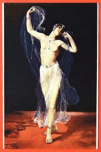 140500 Fred VEZIN Dancer Nude Female Art RICHARD Ed IMP RUSSIA postcard c.1910