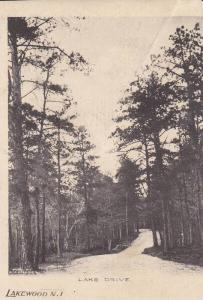 Scenic View, Tree Lined (Dirt Road) Lake Drive, Lakewood, New Jersey 1900-10s