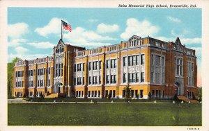 Reitz Memorial High School, Evansville, Indiana, Early Postcard, Unused