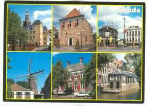 Netherlands, Gouda, multi view, 1980s unused Postcard