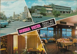 GEELONG, Victoria, Australia, 50-70s; Buena Vista Motor Inn, 4-views