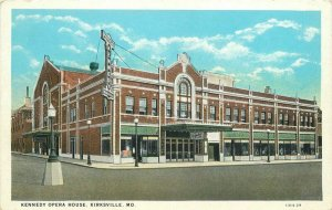 Kennedy Opera House Kirksville Missouri Teich 1920s Postcard 20-9004