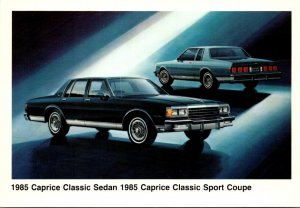 Chevrolet 1985 Caprice Classic Sedan 1985 Caprice Classic Sport Coupe