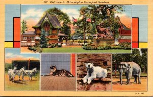 Pennsylvania Philadlphia Entrance To Philadelphia Zoological Gardens & Elepha...