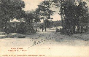Ghana Gold Coast Cape Coast natives 1908 ethnic postcard