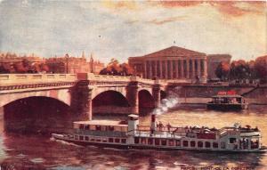 TUCK'S WIDE WIDE WORLD OILETTE POSTCARD c1910s PARIS BRIDGES