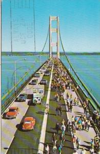 Michigan The Mackinac Bridge 1973