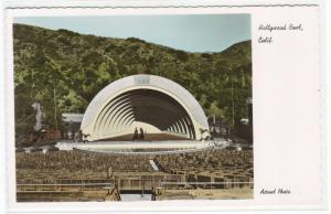 Hollywood Bowl California Color Tinted RPPC postcard