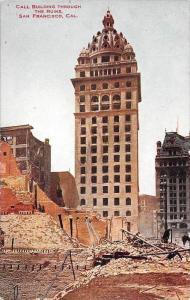8332  CA San Francisco  Call Building through the ruins