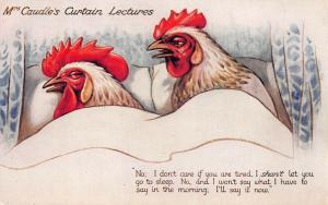 Mrs Caudle's Curtain Lectures Hens Raphael Tuck #8683 Postcard