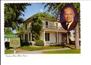 Exterior and Portrait, Eisenhower Home Abilene, Kansas,