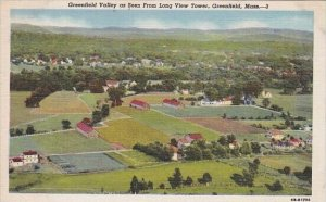 Greenfield Valley As Seen From Long View Tower Greenfield Massachusetts