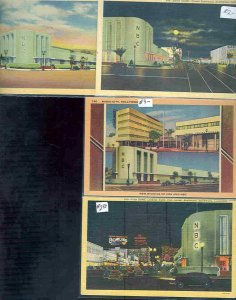 pc9325 postcard Hollywood NBC Building FOUR 1 used 3 not