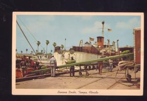 TAMPA FLORIDA BANANA DOCKS SHIP BOAT BOATS VINTAGE POSTCARD