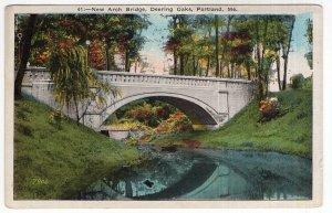 Portland, Me, New Arch Bridge, Deering Oaks