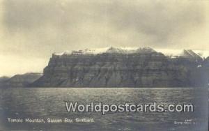 Norway, Norwegian, Norge, Norske Svalbard Temple Mountain, Sassen Bay Real Photo