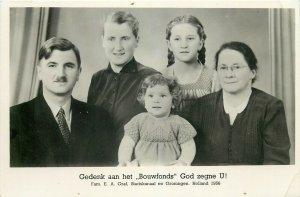 Gedenk aan het  Bouwfonds  God zegne U! Fam Graf Stadskanaal Groningen Holland