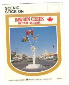 Label, Scenic Sticker, Dawson Creek, British Columbia, Canada, 1970-1990s