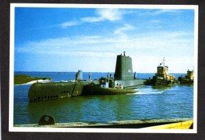 SC Submarine Clamagore Navy Naval War Ship Charleston South Carolina Postcard