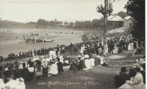 Cricket Ground,  Auckland Domain, New Zealand, Real Photo Post Card (R78)