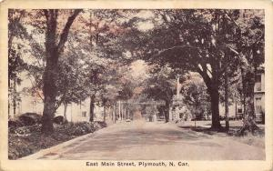 Plymouth North CarolinaHomes on Tree-Lined Main Street 1920s Postcard