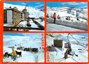 Spain Old Vintage Antique Post Card Sierra Nevada Postal Used Unknown
