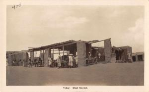 Tokar Sudan Meat Market Real Photo Antique Postcard J59026
