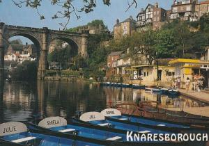 Knaresborough Yorkshire Boats Of A Girls Name Julie Shiela Jill Sophie Postcard