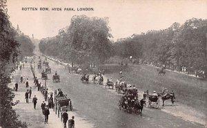 Rotten Row, Hyde Park London United Kingdom, Great Britain, England Writing o...