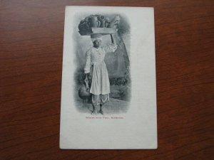 Barbados Postcard 1900-06 UDB Unused Woman With Tray of Pots on Head
