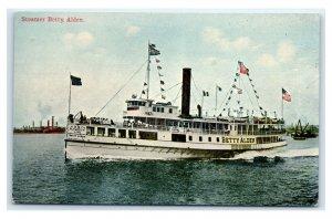 Postcard Steamer Betty Alden, unused T33