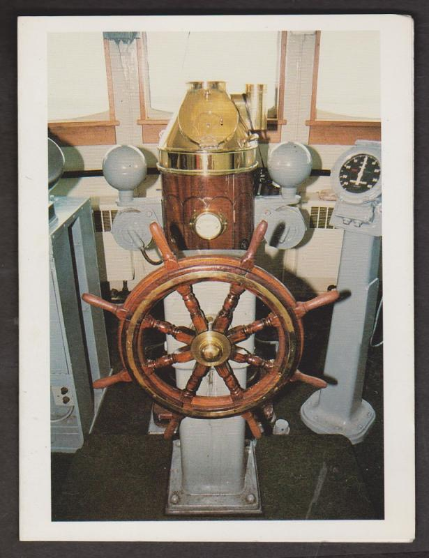Folded Greeting Card - Captain's Wheel - Photo By Hedley Blake - Unused