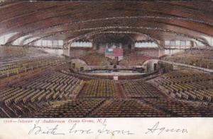 New Jersey Ocean Grove Auditorium Interior 1906
