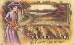 Artist Reynolds, Frank Postcard, Post Card Old Vintage Antique A Happy Birthd...