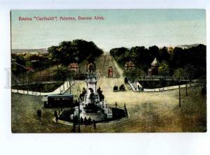 213806 ARGENTINA BUENOS AIRES Garibaldi monument Old postcard