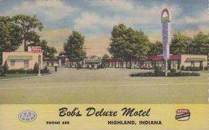 Indiana Highland Bobs Deluxe Motel Curteich