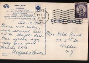 Jarratt VA Walden NY Motel Restaurant US301 Mrs Ethyl Quick Postcard B06