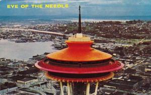 Washington Seattle Space Needle Overlooking Lake Union and Lake Washington
