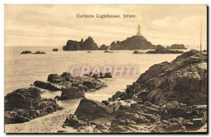 Old Postcard Jersey Corbiere Lighthouse Lighthouse